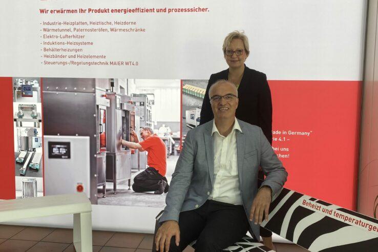 Ramazan Selcuk und Kristin Maier-Müller, Geschäftsführerin G. MAIER Elektrotechnik GmbH