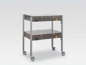 Präzisions-Heiztisch mit übereinander angeordneten Heizplatten
