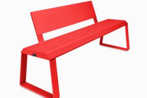 G MAIER beheizte Outdoor Sitzbank