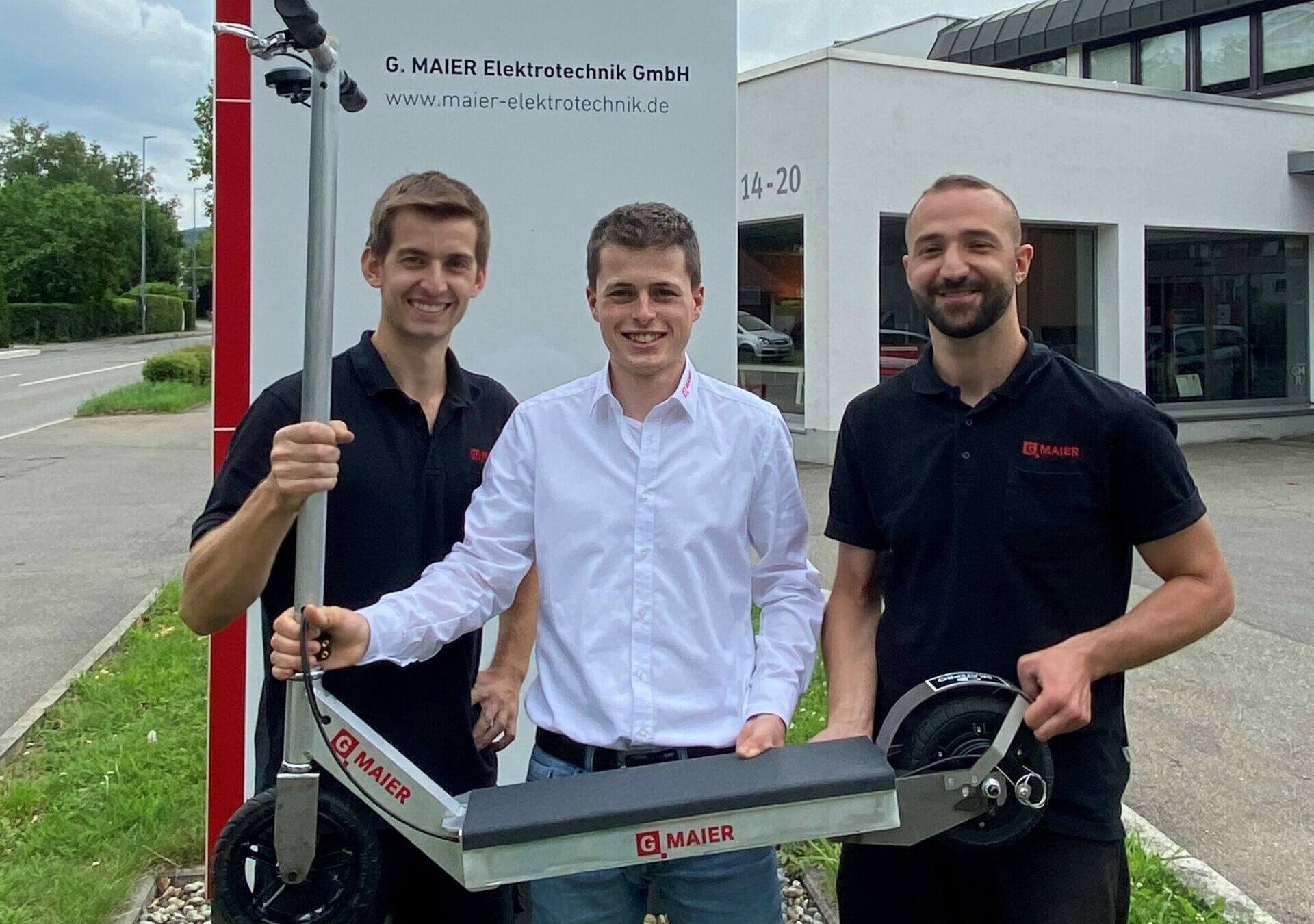 Azubi Projekt E-Scooter der G MAIER Elektrotechnik GmbH
